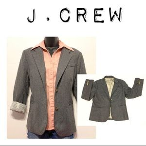 J.Crew Schoolboy Style Black w/ gold buttons